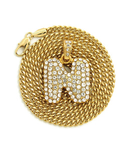 14k Gold Plated Bubble Letter A-Z