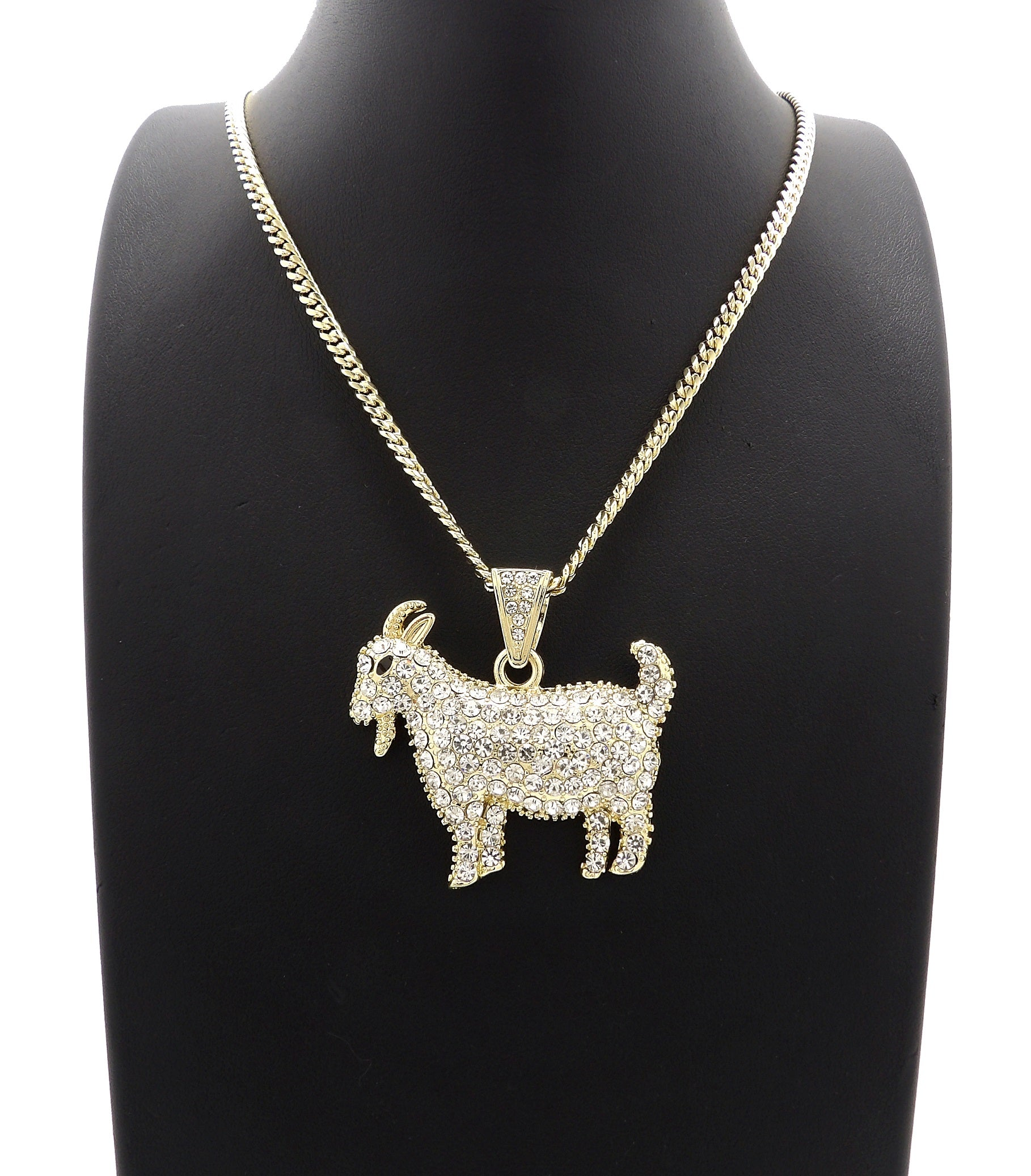 14K Iced Out The Goat Necklace