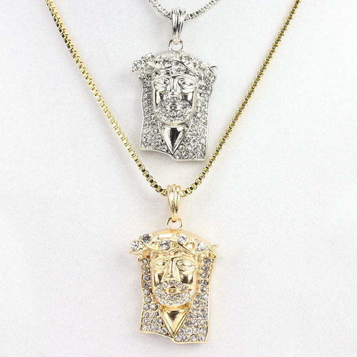 chain pendants piece bling jewelry high quality necklaces collier big jesus products necklace charm long rappers