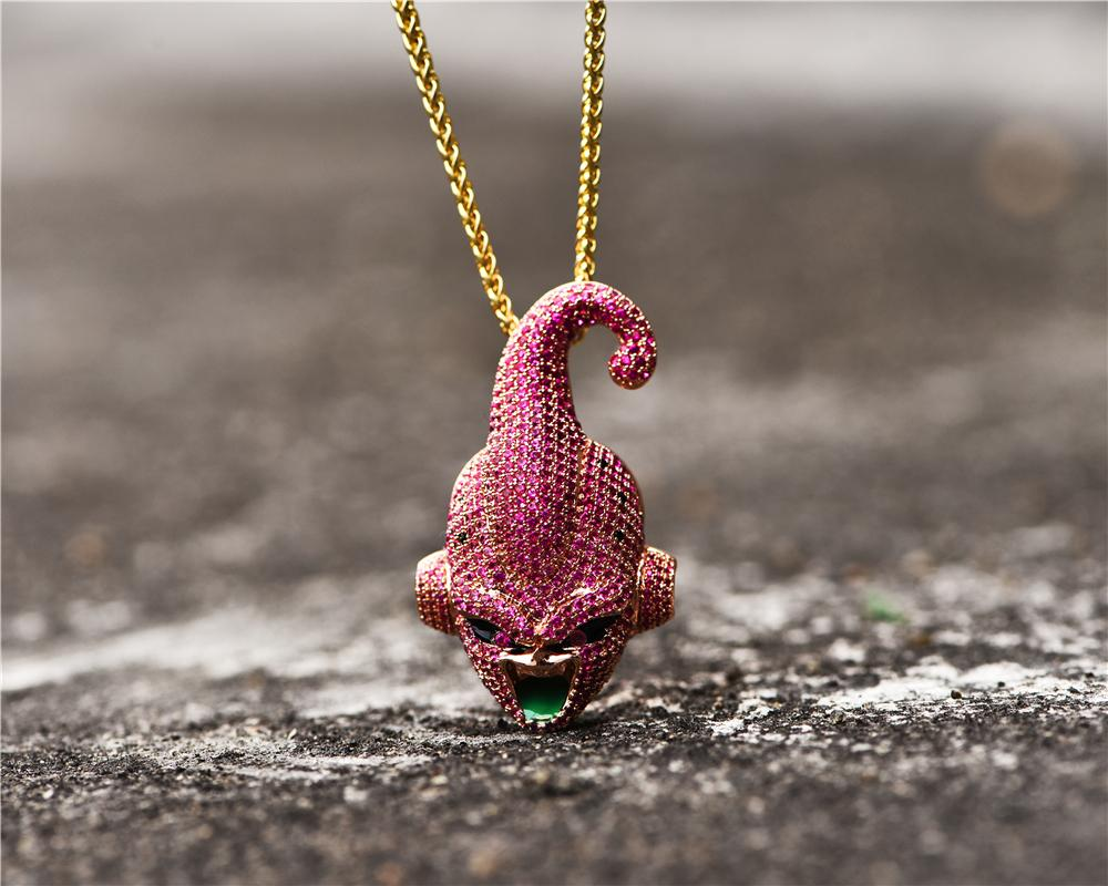 14k Gold Plated Iced Out Buu Piece
