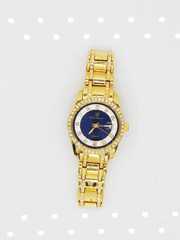 14k Gold Plated Iced Out Watch