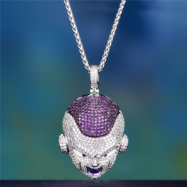 14k Gold Iced Out Frieza
