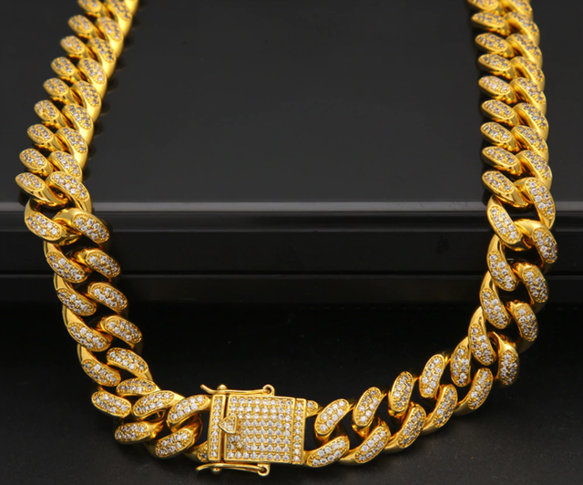14K Iced Out High Quality Miami Cuban