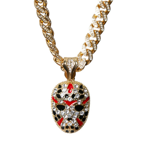 14K Gold Icey Miami Cuban Savage Mask