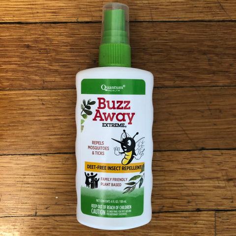 quantum's buzz away deet-free plant-based formula repels ticks and mosquitoes