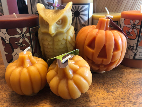 beeswax candles for halloween