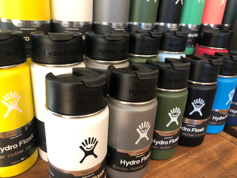 hydroflask 12oz and 16oz insulated water bottles