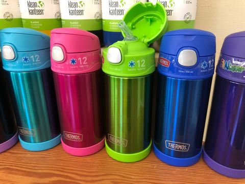 thermos 10oz insulated water bottles with a silicon straw