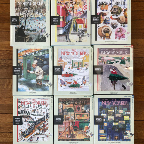 holiday jigsaw puzzles featuring covers from the new yorker magazine