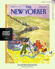 yellow brick road block new yorker jigsaw puzzle