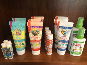 badger organic sunscreen and buzz away plant-based deet-free bug spray