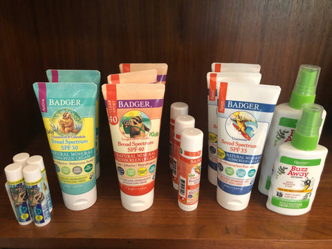 badger sun products and quantum's buzz away to repel mosquitoes and ticks
