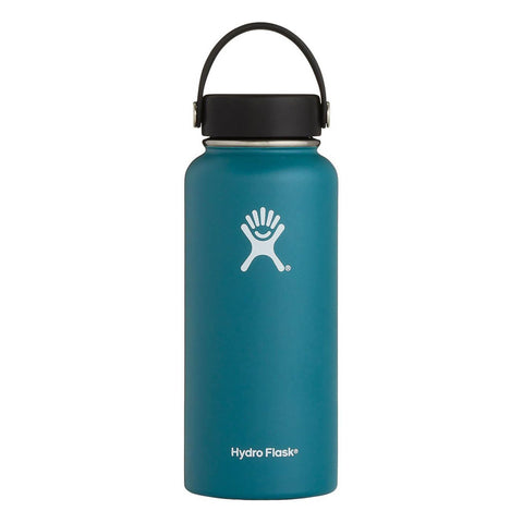 jade 32 oz wide mouth hydro flask bottle keeps liquids cold for up to 24 hours and hot up to 6. bpa-free