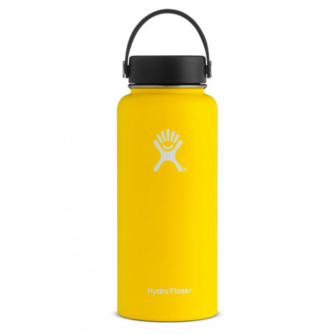 Hydro flask lemon 32 oz wide mouth bottle keeps liquids cold for up to 24 hours and hot up to 12. BPA-free
