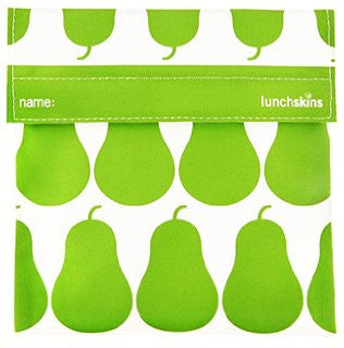 green pear reusable sandwich/snack bag
