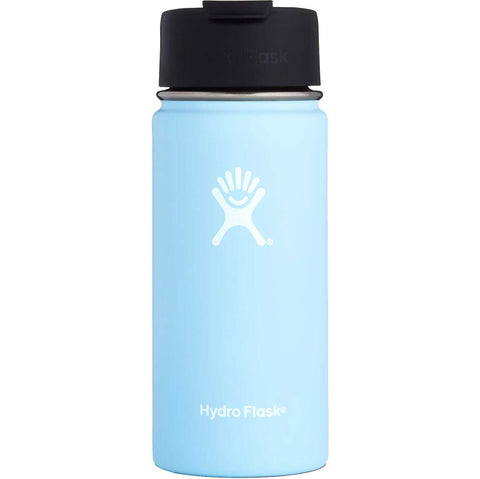 Hydro flask frost 16 oz wide mouth bottle keeps liquids cold for up to 24 hours and hot up to 12. BPA-free
