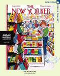 New York Puzzle Companys 1,000 piece jigsaw puzzle of the New Yorker cover the Bookstore Made in the USA