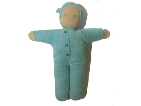 peppa cotton and wool cuddle doll, blue