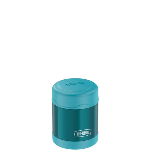 thermos funtainer stainless steel food jar 10oz teal keeps food warm (5 hours) and cold (9 hours). bpa free