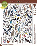 New York Puzzle Companys 1,000 piece jigsaw puzzle birds of western america, cornell lab of ornithology. made in the USA
