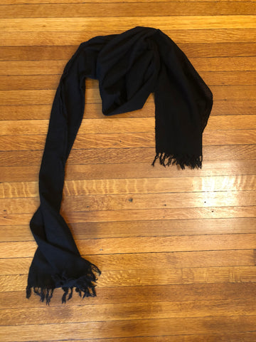 black merino wool shawl