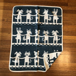 klippan children's blanket organic cotton chenille blue dance