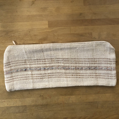 hemp/cotton zipper bag - front