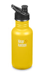 klean kanteen 18 oz lemon curry standard mouth water bottle. bpa & bps free.