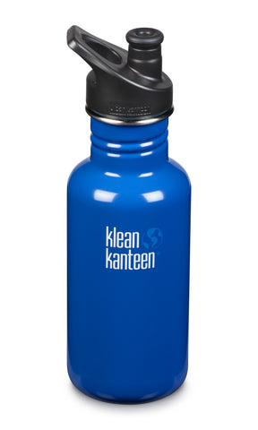 klean kanteen 18 oz coastal waters standard mouth water bottle. bpa & bps free.