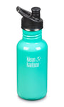 klean kanteen 18 oz sea crest standard mouth water bottle. bpa & bps free.