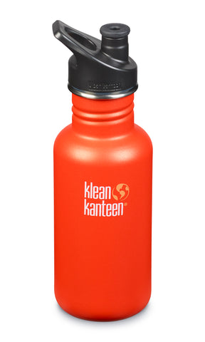 klean kanteen 18 oz sierra sunset standard mouth water bottle. bpa & bps free.