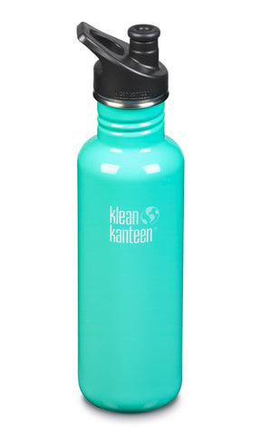 klean kanteen 27 oz sea crest standard mouth water bottle. bpa & bps free.