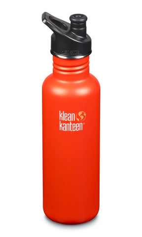 klean kanteen 27 oz sierra sunset standard mouth water bottle. bpa & bps free.