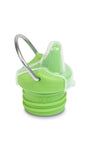 klean kanteen kid sippy cap is a spill proof sippy cap with dust cover and swing away metal loop can be easily attached to stroller or bag. bpa-free