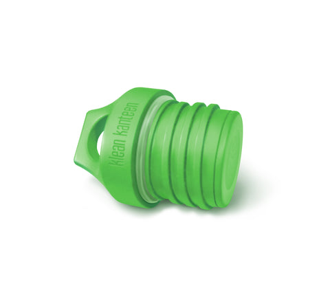 klean kanteen green loop cap the leakproof loop cap transports your drinks safely without drips. BPA-free and dishwasher safe