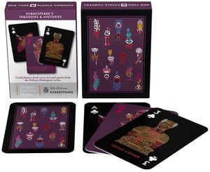 new york puzzle company tragedies & history shakespeare cards playing cards