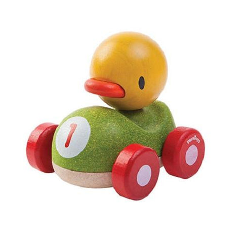 plan toys duck racer 5678 animal themed wood racers perfect for little hands to hold and push