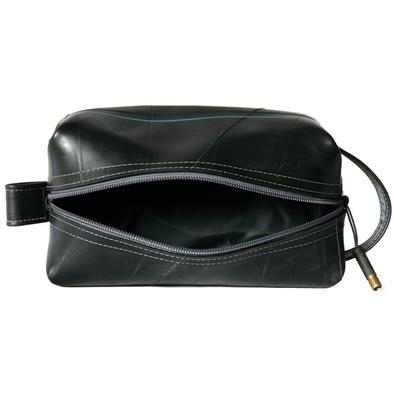 alchemy goods coal elliott dopp kit, the toiletry bag with a reclaimed inner tube exterior. water resistant. made USA