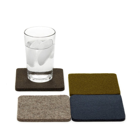 graf lantz colorful alpine felted wool coasters. made in CA USA