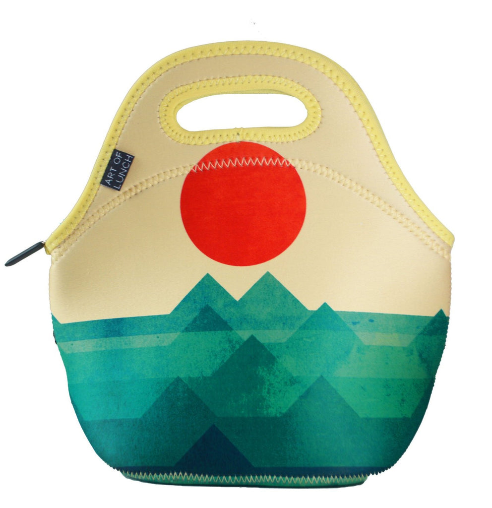 art of lunch neoprene lunch bag. insulates. keeps lunch hot or cold.