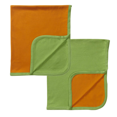 babysoy modern solid colored reversible blankets, tangerine