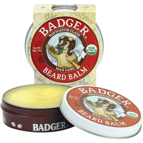badger organic  beard balm conditions your beard, seal in moisture, keep stray hairs in check, and act as a light styling aid