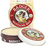 badger mustache wax  features extra hard carnauba wax for medium hold and a high glossy shine