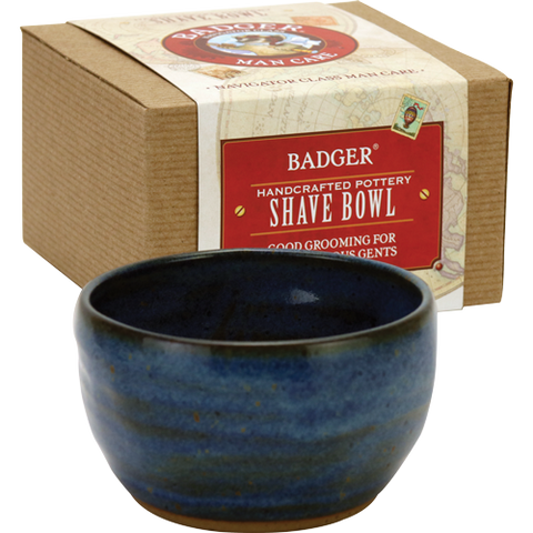 badger shaving bowl hand-thrown by a US based potter these beautiful bowls are perfect for working a rich creamy lather out of your shave soap