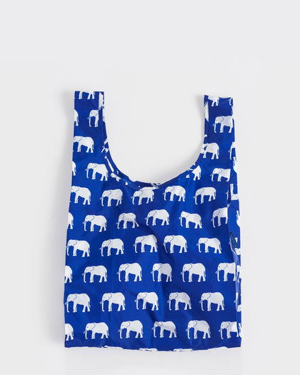 blue elephant baggu reusable shopping bag in princeton new jersey