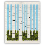 swedish dishcloth - birch forest