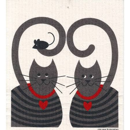 swedish dishcloth - cats