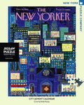 New York Puzzle Companys 1,000 piece jigsaw puzzle of the New Yorker cover city advent calendar. Made in the USA