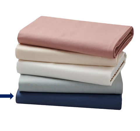 coyuchi organic cotton fitted crib sheet in french blue