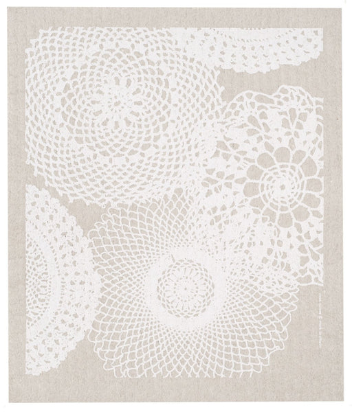 swedish dishcloth - gray doilies